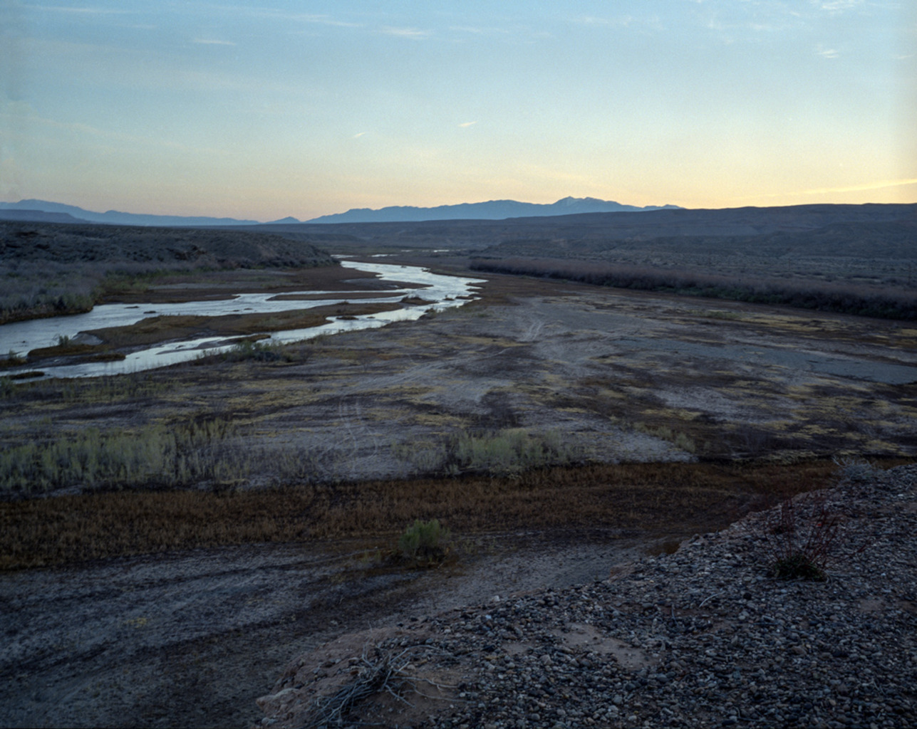 <em>nightfall</em> Virgin River, Nevada