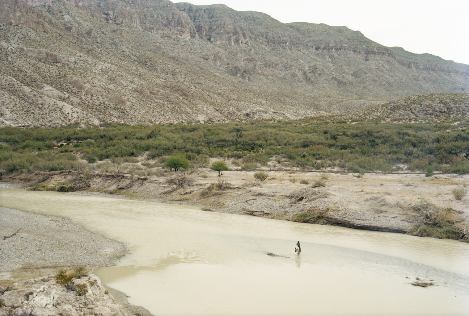 Untitled (Man on Horse in Rio Grande). Big Bend National Park, Texas, 2009 © Victoria Sambunaris