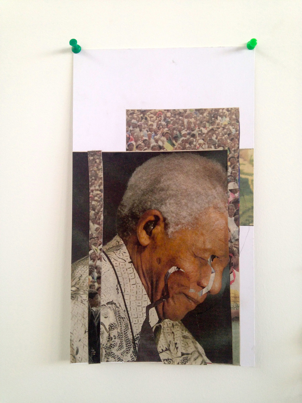 Mandela, 2013, Collage, 24 x 17 cm.