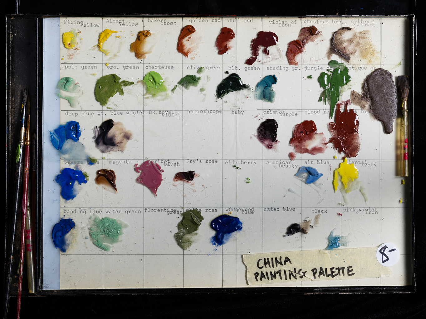 China Painting Palette
