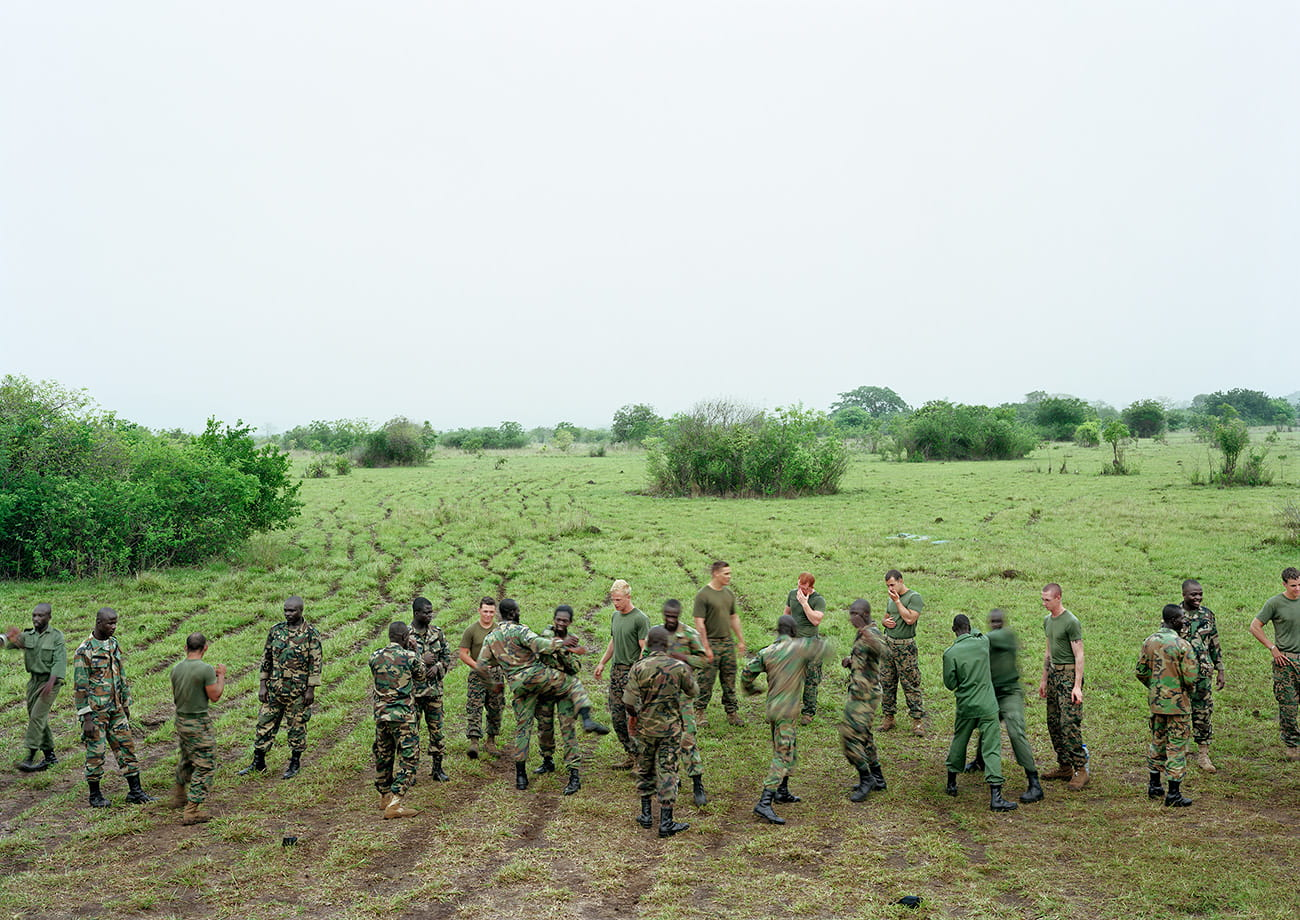 Marine Corps Martial Arts Program, Bundase Training Camp, Ghana, 2010. From the series Events Ashore © An-My Lê