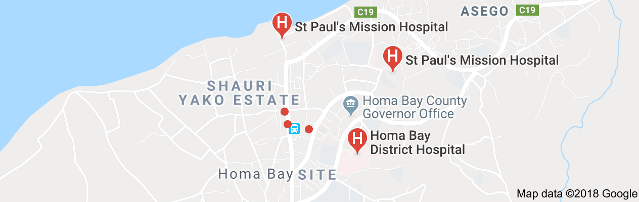 Homa Bay Hospital Map