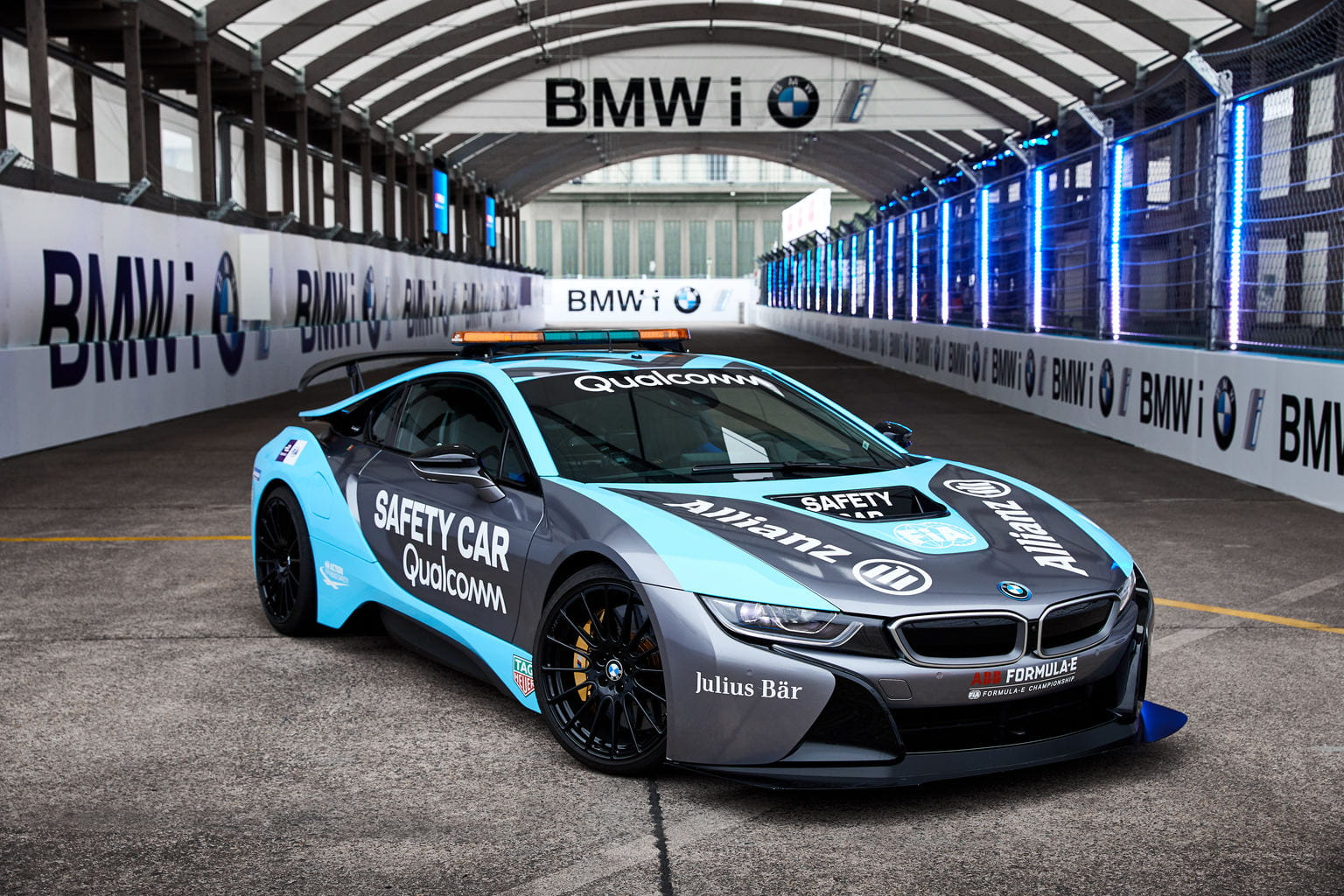 Not only a competitor, The BMW i8 is the official safety car of FIA Formula E
