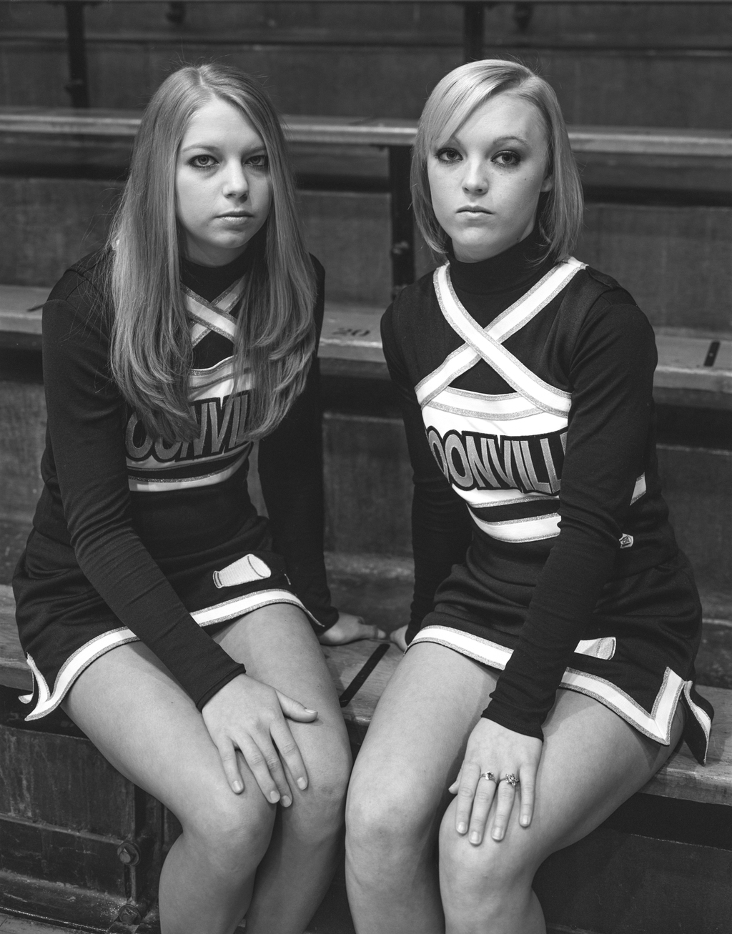 Two Cheerleaders. Boonville,IN, 2008. ©Timothy Briner