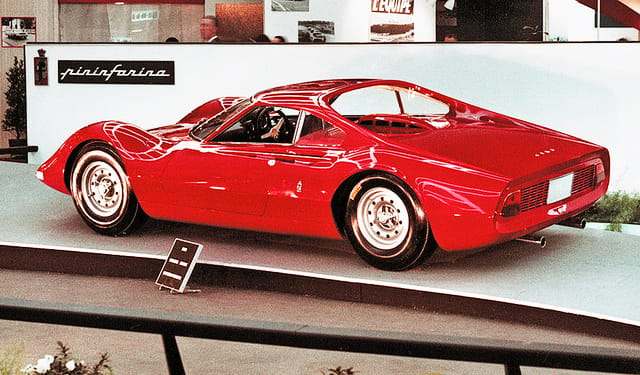 The Dino Berlinetta Speciale on display in period