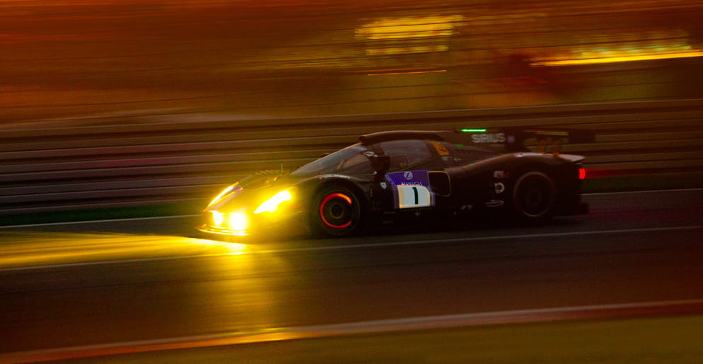The Scuderia Cameron Glickenhaus P 4/5 Competizione at speed