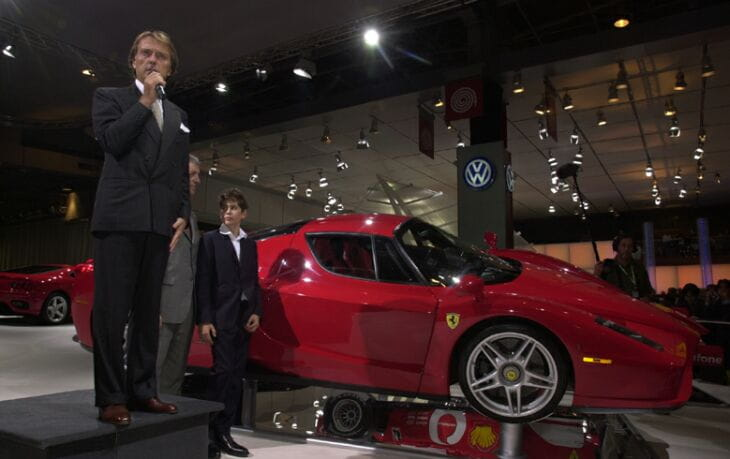 Luca di Montezemolo and the Enzo Ferrari