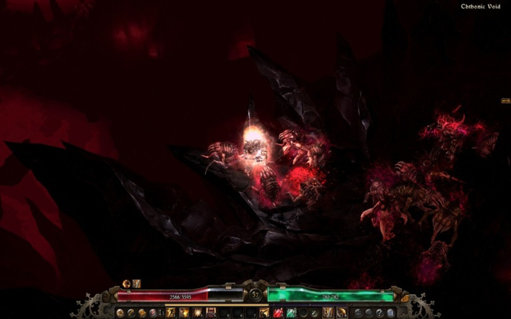 Grim Dawn's main focus is single-player action, though it supports multiplayer for up to four people.