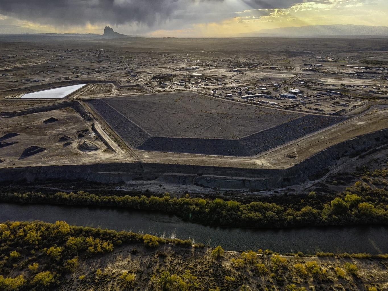 Shiprock Disposal Cell, Shiprock, New Mexico, Navajo Nation, 2020. Connecting the Dots.