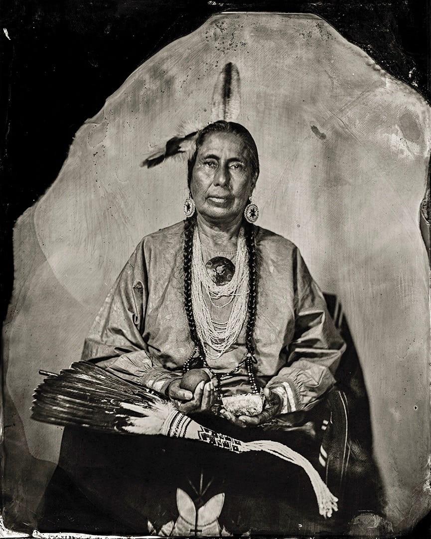 Casey Camp-Horinek, citizen of the Ponca Tribe of Oklahoma. Talking Tintype.