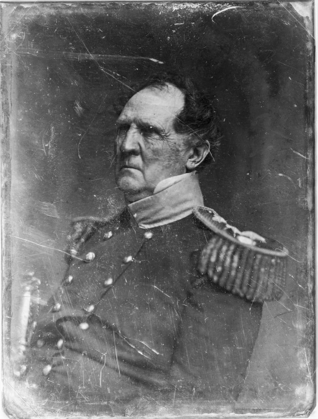 Winfield Scott, in military uniform by Mathew B. Brady, circa 1849. Gallery of Illustrious Americans. (Library of Congress)