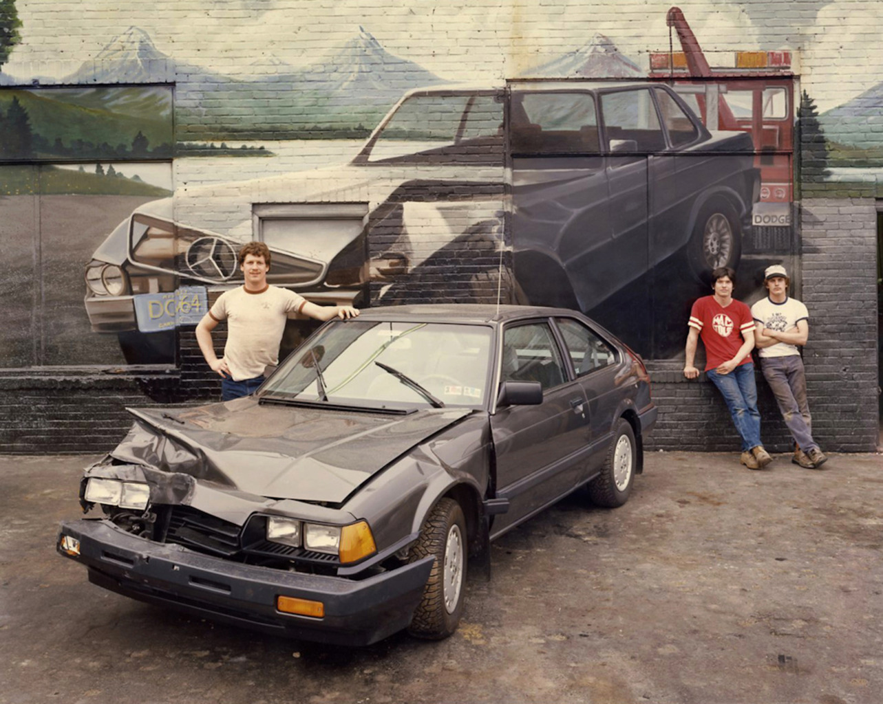 <em>Crashed Car, Burlington, NJ,</em> 1985