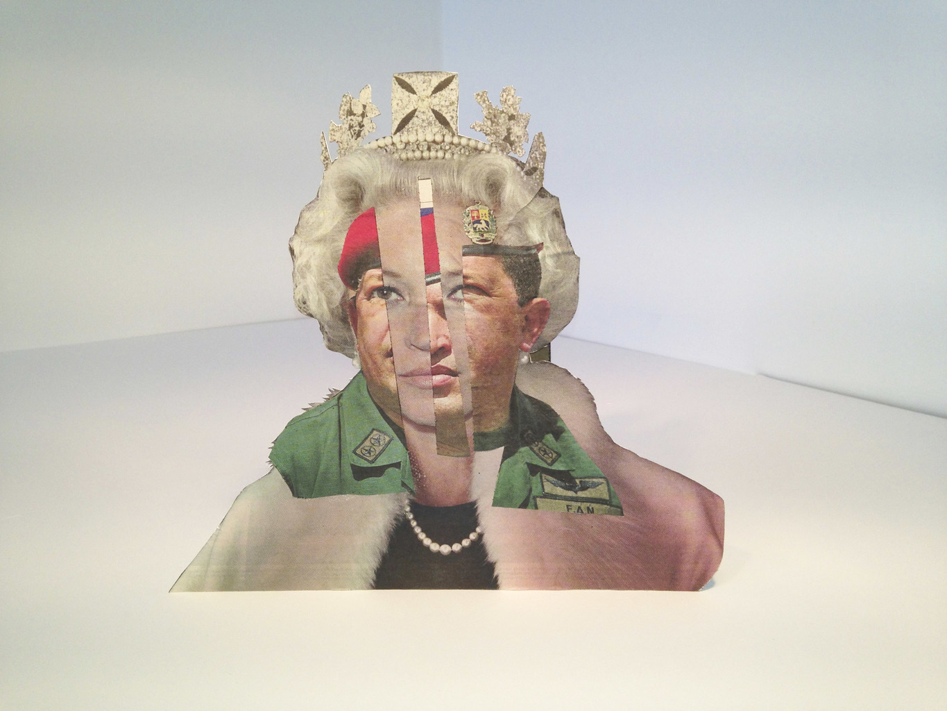Chavez and Queen of Fashion Kate, The Guardian, 25th March 2013, Collage, 30 x 33 cm.
