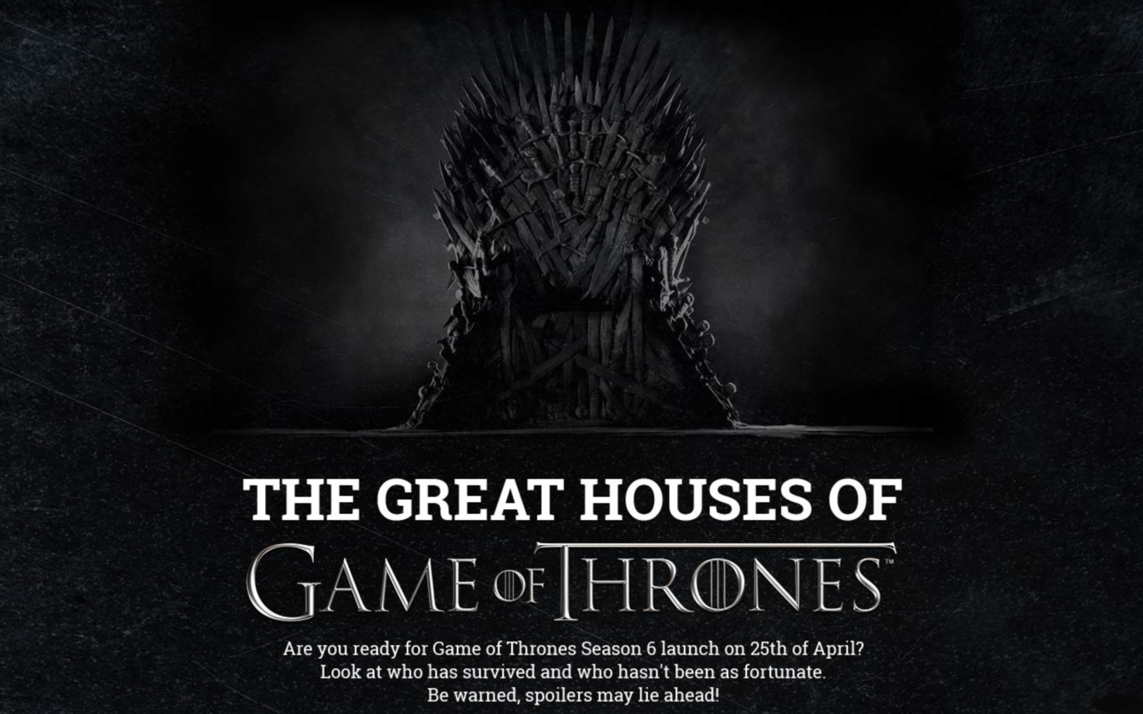 The Great Houses of Game of Thrones