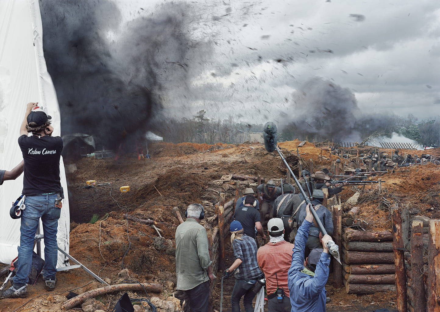 "Film Set (""Free State of Jones""), Battle of Corinth, Bush, Louisiana, 2015, courtesy STX Entertainment. From the series ""Silent General"" © An-My Lê"